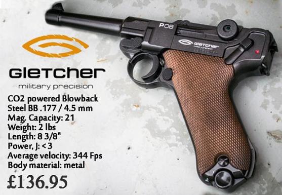 gletcher military precision pistol