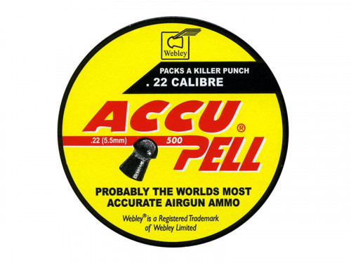 Webley Accupell .22 Pellets 5.5mm