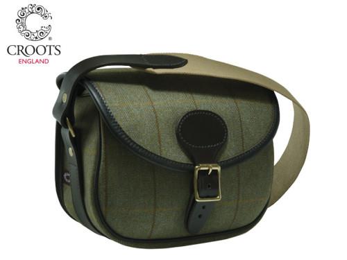 Croots Helmsley Tweed Cartridge Bag Green