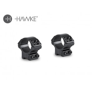 "Hawke 1"" Match Mount 2 Piece 9-11mm Low"