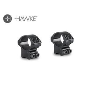 """Hawke 1"""" Match Mount 2 Piece 9-11mm Medium"""
