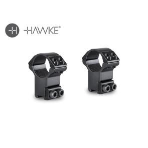 """Hawke 1"""" Match Mount 2 Piece 9-11mm High"""