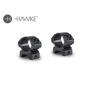 "Hawke 1"" Match Mount 2 Piece Weaver Low"