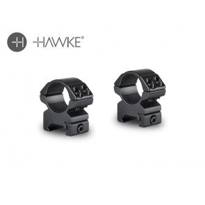 "Hawke 1"" Match Mount 2 Piece Weaver Medium"