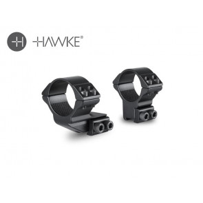 "Hawke 1"" Extension Ring 30mm 2 Piece 9-11mm High"