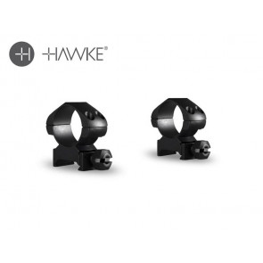 "Hawke Precision Steel Ring Mounts 1"" 2 Piece Weaver Medium"