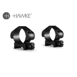 Hawke Precision Steel Ring Mounts 30mm 2 Piece Weaver Low