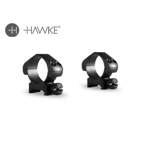 Hawke Precision Steel Ring Mounts 30mm 2 Piece Weaver Medium
