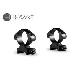 Hawke Precision Steel Ring Mounts 30mm 2 Piece Weaver High