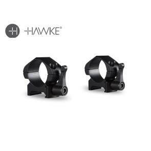"Hawke Precision Steel Ring Mounts 1"" 2 Piece Weaver Low - Lever"