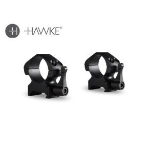 "Hawke Precision Steel Ring Mounts 1"" 2 Piece Weaver Medium - Lever"