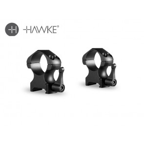 """Hawke Precision Steel Ring Mounts 1"""" 2 Piece Weaver High - Lever"""