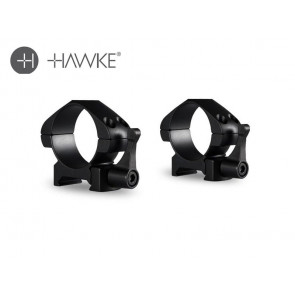 Hawke Precision Steel Ring Mounts 30mm 2 Piece Weaver Low - Lever
