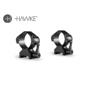 Hawke Precision Steel Ring Mounts 30mm 2 Piece Weaver High - Lever