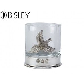 Bisley English Pewter Whiskey Tumbler - Pheasant