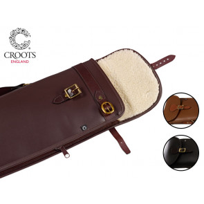 Croots Byland Leather Bipod Rifle Slip with Flap and Zip