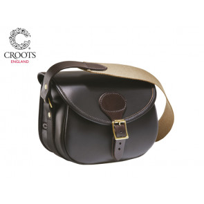Croots Byland Leather Cartridge Bag Dark Havana