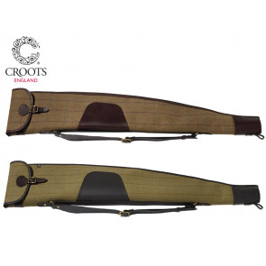 Croots Helmsley Tweed Rifle Slip with Zip and Flap