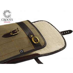 Croots Helmsley Tweed Rifle Gun Slip with Zip and Flap
