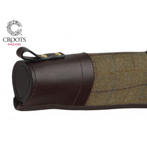 Croots Helmsley Tweed Shotgun Gun Slip with Zip and Flap