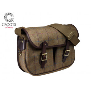 Croots Helmsley Tweed Carryall Burgundy
