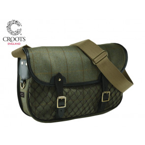 Croots Helmsley Tweed Netted Carryall Green