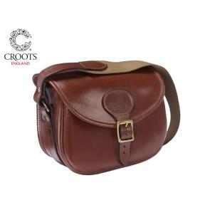 Croots Malton Bridle Leather Cartridge Bag - 150 Capacity
