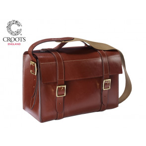Croots Malton Bridle Leather Cartridge Bag - 300 Capacity