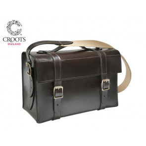 Croots Malton Bridle Leather Cartridge Bag Dark Havana