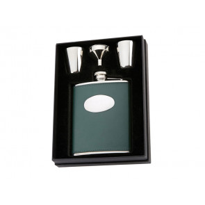 Leather Presentation Hip Flask by David Nickerson