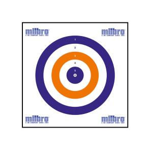 Milbro 17cm Card Targets (100 Pack)