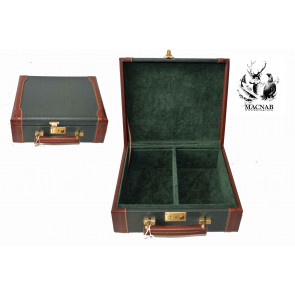 John MACNAB  Mini Leather & Oak Cartridge Box