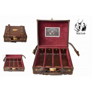 John MACNAB  Leather & Oak Cartridge Box