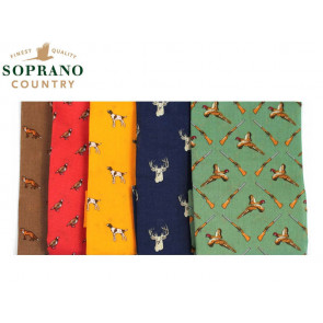 Soprano Country Themed Cotton Handkerchiefs (Pack of 5)