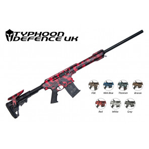 Typhoon F12 Camo 12g Semi-Auto Shotgun red with colour variations