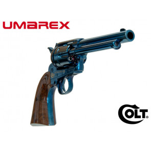 """Colt SAA Peacemaker 5.5"""" 4.5mm/.177 Pellet Blued/Brown"""
