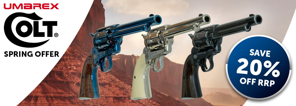 Save 20% on Colt air pistols This Spring
