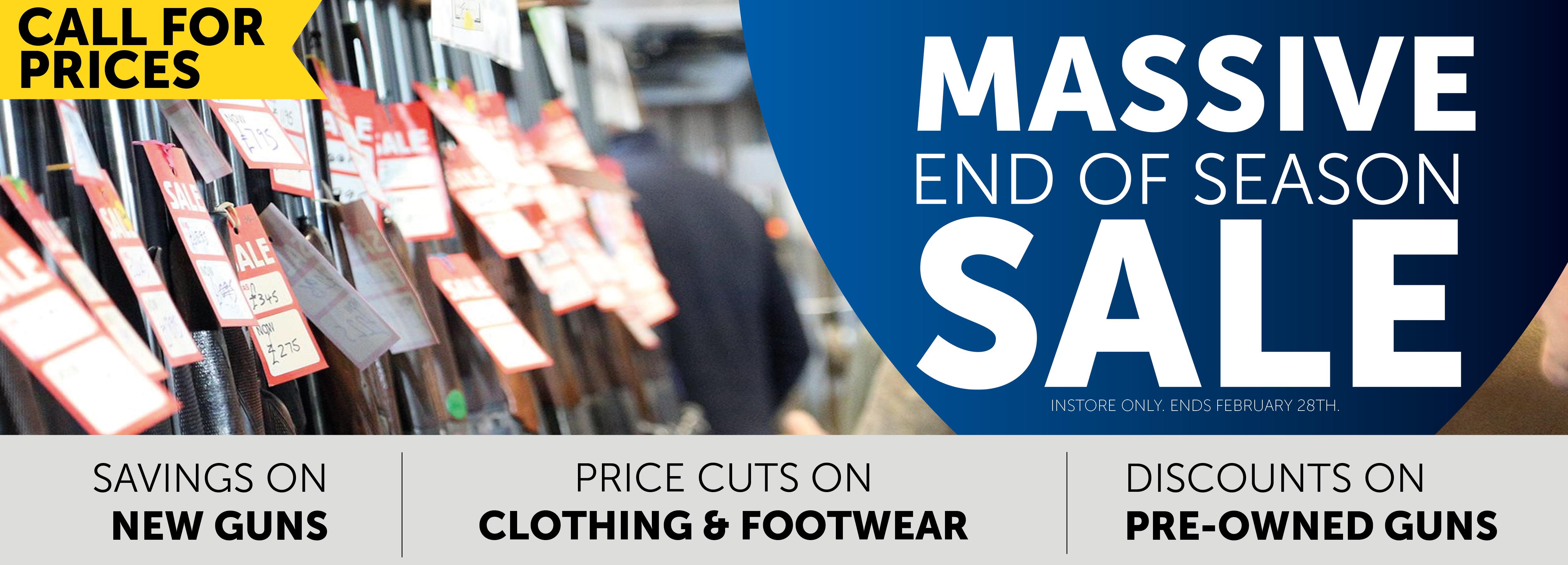 Massive February in-store Sale